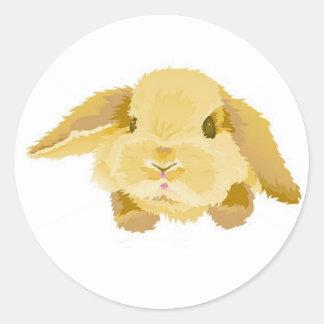 Lop Eared Bunny Classic Round Sticker
