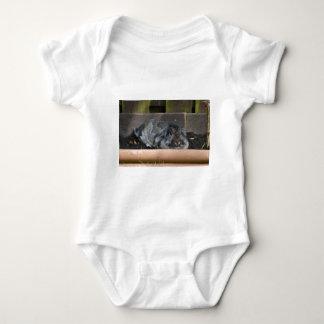Lop eared rabbit baby bodysuit