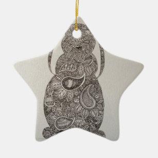 Lop Eared Rabbit Design Ceramic Ornament