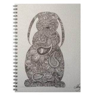 Lop eared rabbit design note book