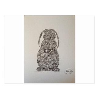 Lop eared rabbit design postcards
