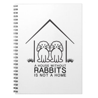 Lop-eared Rabbit Home Spiral Note Books