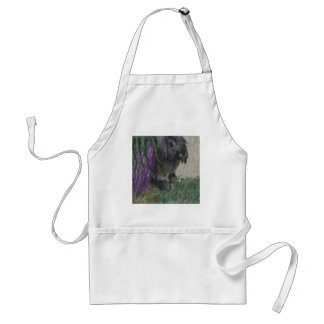 Lop eared  rabbit painting adult apron