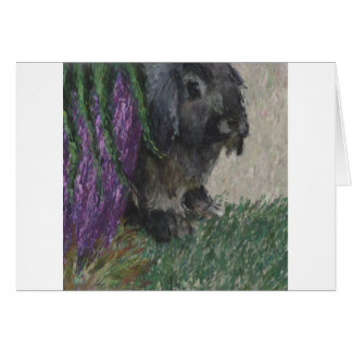 Lop eared  rabbit painting greeting cards