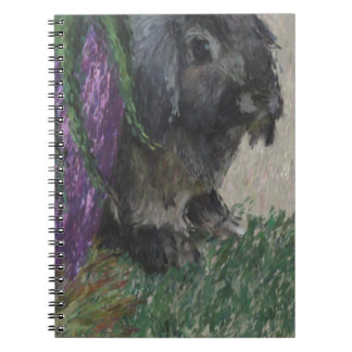 Lop eared  rabbit painting spiral note books