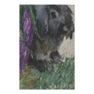 Lop eared  rabbit painting stationery