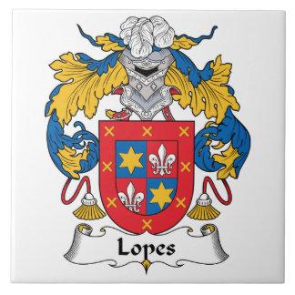 Lopes Family Crest Ceramic Tile