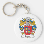 Lopes Family Crest Key Chain
