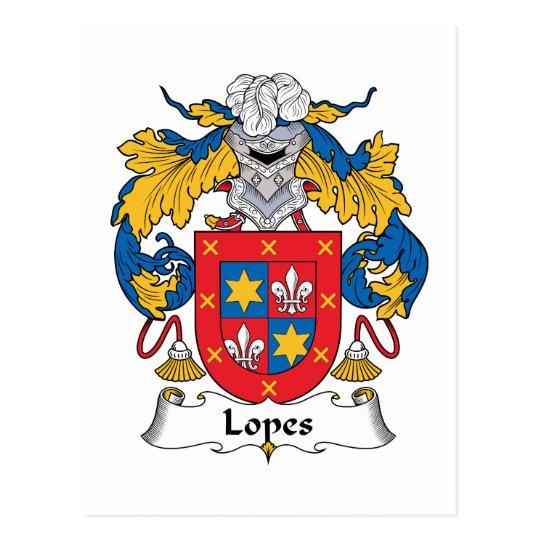 Lopes Family Crest Postcard
