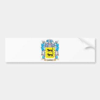 Lopez Coat of Arms - Family Crest Car Bumper Sticker
