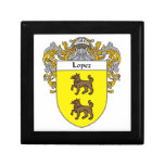 Lopez Coat of Arms/Family Crest Jewelry Box