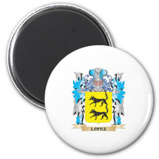 Lopez Coat of Arms - Family Crest Refrigerator Magnets