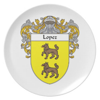 Lopez Coat of Arms/Family Crest Melamine Plate