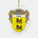 Lopez Coat of Arms/Family Crest Christmas Tree Ornament