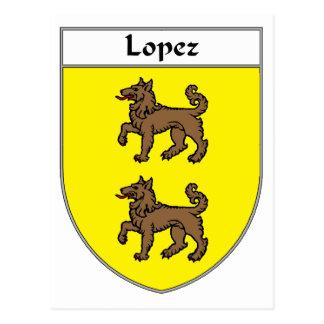 Lopez Coat of Arms/Family Crest Postcard