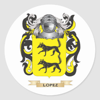 Lopez Coat of Arms (Family Crest) Classic Round Sticker