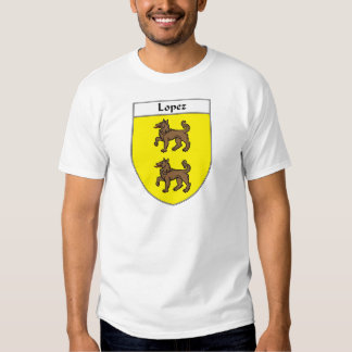 Lopez Coat of Arms/Family Crest Tee Shirt