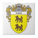 Lopez Coat of Arms/Family Crest Tile
