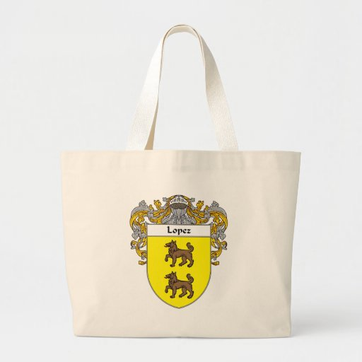 Lopez Coat of Arms (Mantled) Canvas Bag