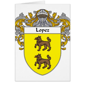 Lopez Coat of Arms (Mantled) Card
