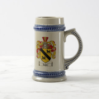 Lopez Coat of Arms Stein / Lopez Family Crest Mug
