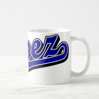 López en azul taza clásica