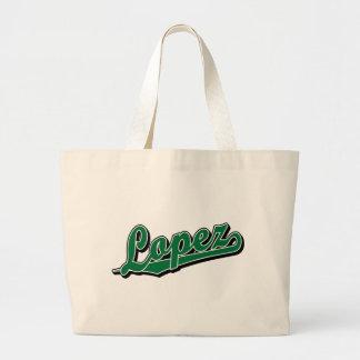 López en verde bolsa