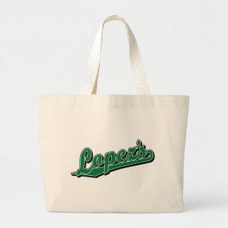 López en verde bolsas