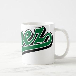 López en verde taza
