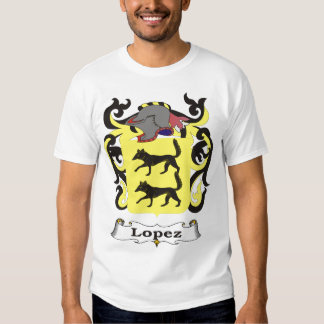 Lopez Family Coat of Arms T-shirt