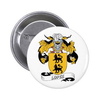 Lopez Family Crest Button