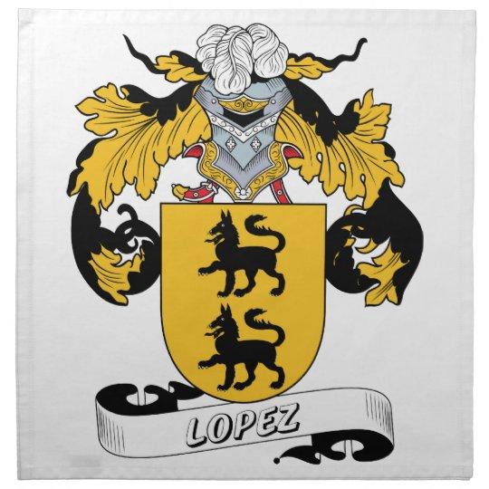Lopez Family Crest Cloth Napkin
