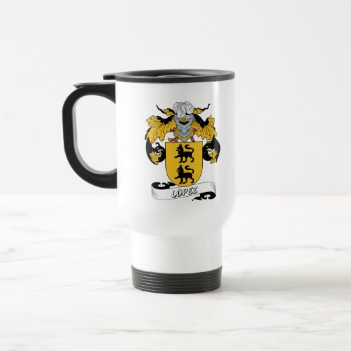 Lopez Family Crest 15 Oz Stainless Steel Travel Mug