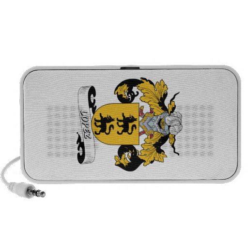 Lopez Family Crest Travelling Speakers