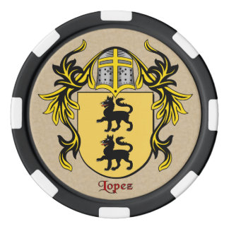 Lopez Heraldic Arms Poker Chips Set
