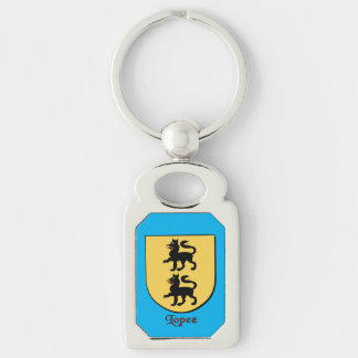 Lopez Historical Shield Keychain