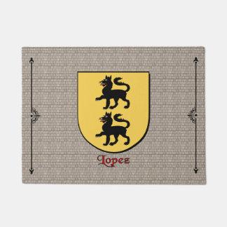 Lopez Historical Shield on Cobblestone Doormat
