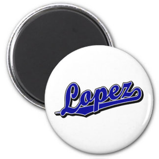 Lopez in Blue Refrigerator Magnets