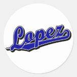 Lopez in Blue Stickers