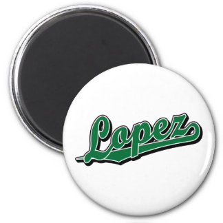Lopez in Green Refrigerator Magnets