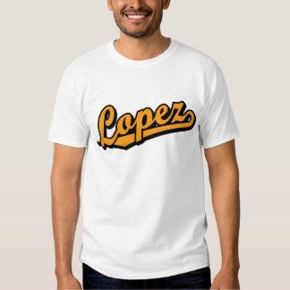 Lopez in Orange T-Shirt