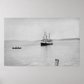 Lopez Island, WA - Rosalie Ferry San Juan Poster