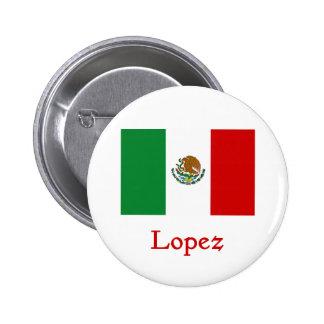 Lopez Mexican Flag Button