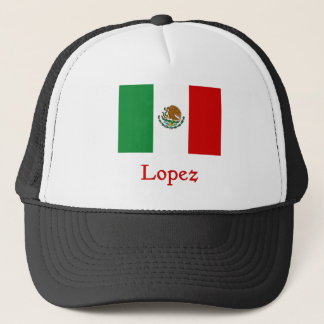 Lopez Mexican Flag Trucker Hat