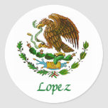 Lopez Mexican National Seal Classic Round Sticker