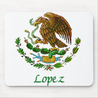 Lopez Mexican National Seal Mouse Pad