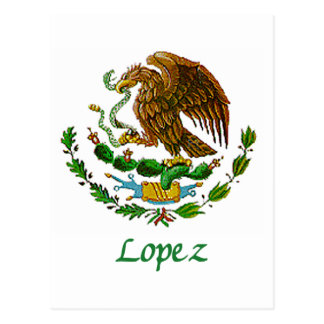 Lopez Mexican National Seal Postcard