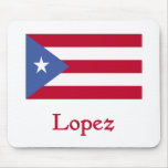 Lopez Puerto Rican Flag Mouse Pad