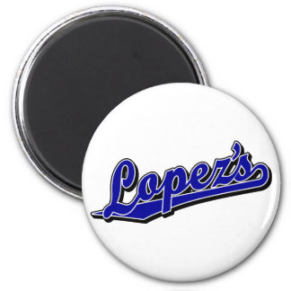 Lopez s in Blue Refrigerator Magnets