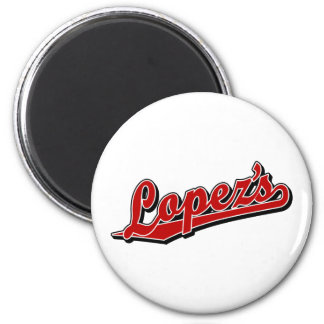 Lopez s in Red Refrigerator Magnet